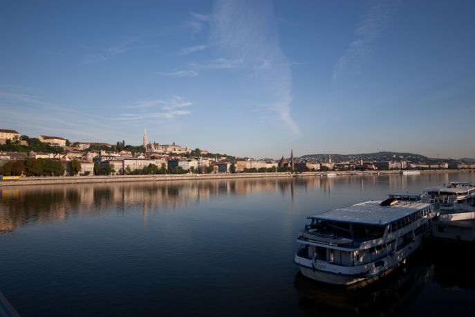 The Blue Danube in Budapest, Hungary
