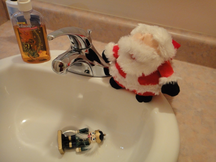 I said, %22Down the chimney, not the drain.%22