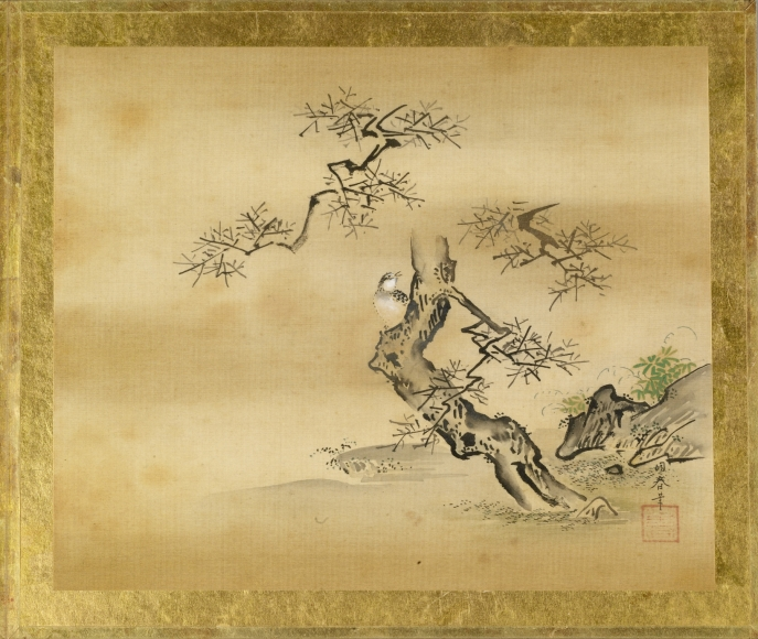 Toshun_-_Bird_in_Bare_Branched_Tree_-_Walters_35173L